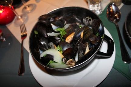 Mussels are a signature dish in Brugge.