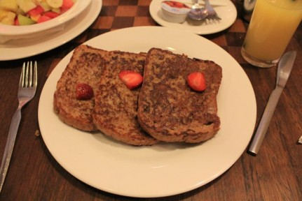 <p>French toast from Nairobi Coffee and Tea House</p>