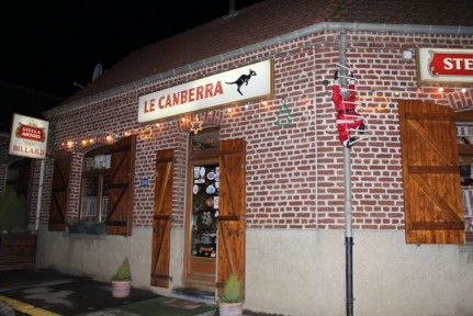 Le Canberra. What an honour to have our nations capital used as the name of these quaint French Pub.