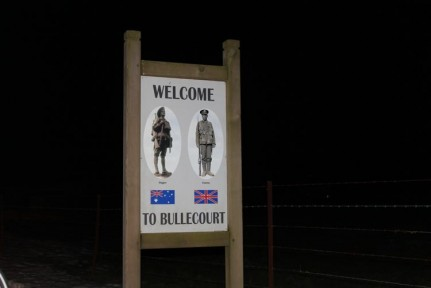 From the moment we entered Bullecourt we felt very welcome.