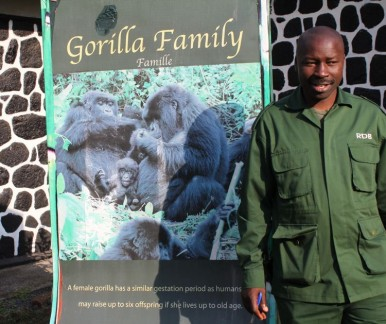 Our Guide for the Gorilla Trek - his name was Patience