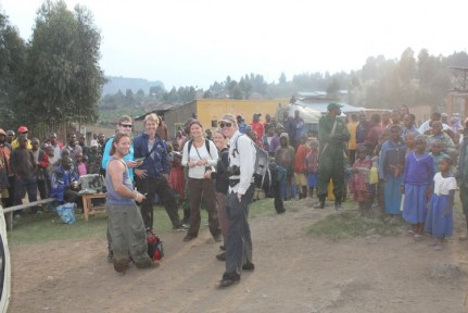 We walked back to the nearby town to receive our certificates and had a crowd of locals surround us for the 'ceremony'