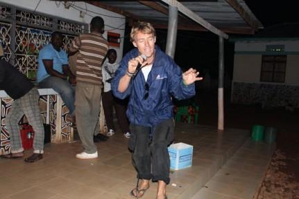 Karaoke began with Pete singing The Gambler...