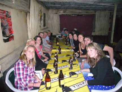 We enjoyed local food and experience at a restaurant in Navaisha. Goat, beef and Ugali was on the menu. No cutlery necessary!!!