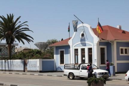 Swakopmund town, clean streets,