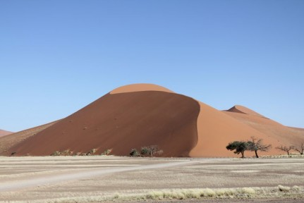 Dune 45 is the best known and most climbed dune in the region known as the sossevlei