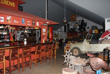 Canon Roadhouse bar area and store is set up like a car yard sort of... Really unique.