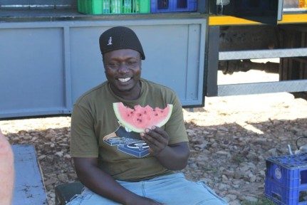 One of our fabulous cooks Themba taking a well deserved break...