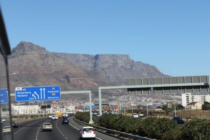 Approaching Table Mountain...