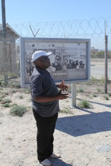 Our guide was an ex political prisoner that spent 8 years inside Robben Island. He was convicted for being a member of the ANC (African National Congress)...