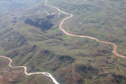 Aerial view of Madagascar...