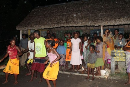 Saturday night is Bush Party where the locals come to our campsite and entertain us with their incredible dance...