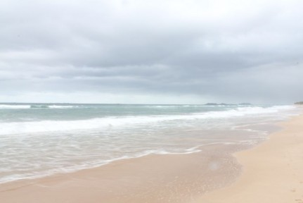 Although a little overcast, the water temperature was beautiful and there were some good waves for body surfing...