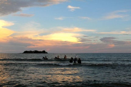 Horse riding at Kande Beach sees you end on horseback in your bathers in the lake.... pretty amazing.
