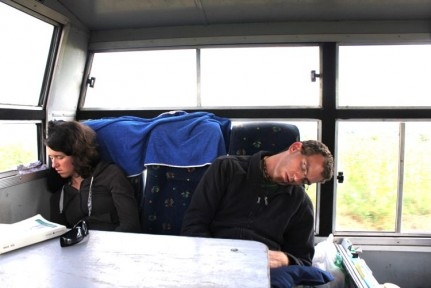 We couldn't resist putting this pic of our Austrian friends, Marlene and Rainer sleeping on the truck, AGAIN...