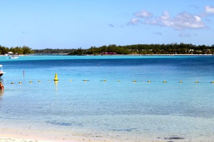 The stunning waters of Blue Bay, South East coast Mauritius...