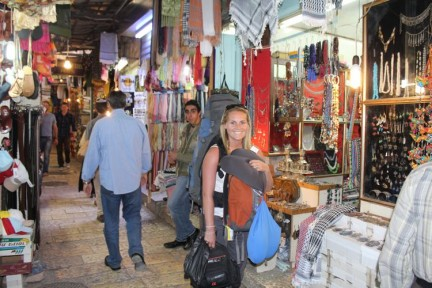 Elissa in the streets of the Old City of Jerusalem