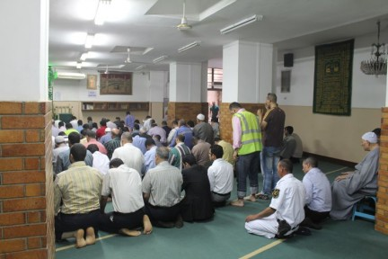 Our first time onside a Mosque during one of the five prayer sessions conducted each day by muslims.