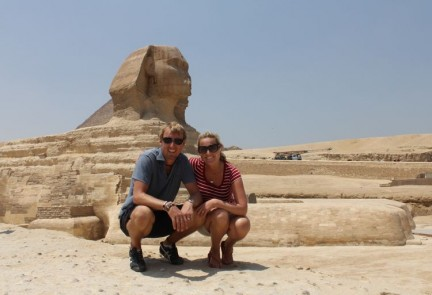 The Sphinx is also on the site too. Its cool but not as impressive in size as we had imagined. Although it is one whole piece of rock so who are we to judge.