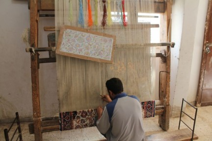The painstaking art of carpet making Famous in the whole Middle Eastern region, not just Egypt. This carpet takes months to make.