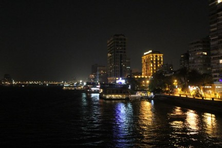 The view from Orchids Restaurant on the Nile...