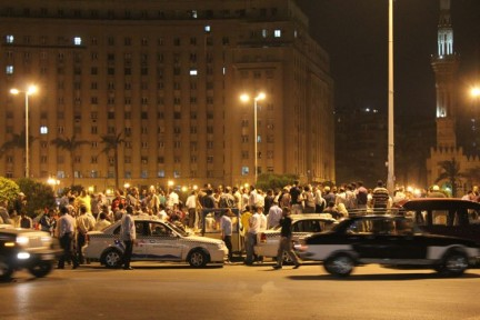Cairo's busy streets at night. This is Tahrir Square - the place of the start of the Egyptian 'Revolution' as it has been named.</p>