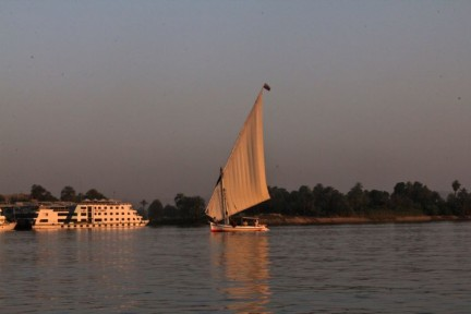 Sailing on the Nile in a Flucca is terrific.