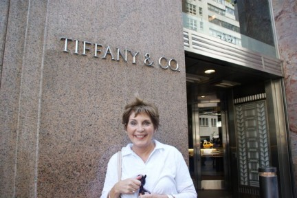 Just about to walk into Tiffany & Co...