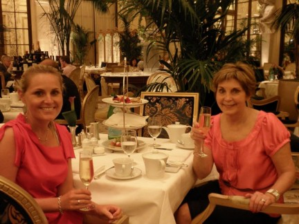 An equisite afternoon in the Palm Room at The Plaza for High Tea...