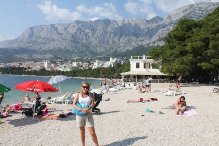 Liss on the beach on Makarska