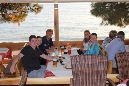 Our last dinner in Makarska before heading back to Split...