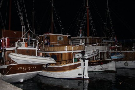 Boats docked for the night time. Our boat was called Mikolvik