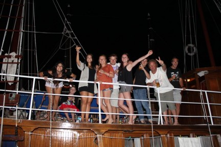 The crew on Sail Croatia