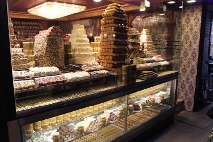 Baklava and Turkish Delight in abundance...