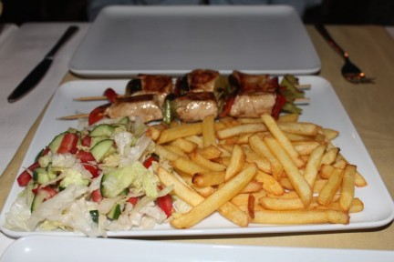 We order the Shisa Kebab and one dish was enough to share between 2...