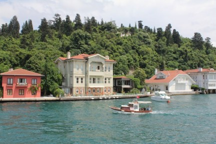 The houses along the Bosphorus Strait are really quite special...