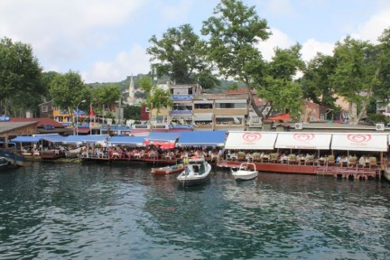 Once you step off the Ferry in Kavagi, you are welcomed by a number of amazing seafood restaurants so after a tasty lunch of Calamari, we were ready to head up the hill to the Castle...