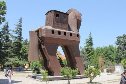 The iconic horse of Troy...