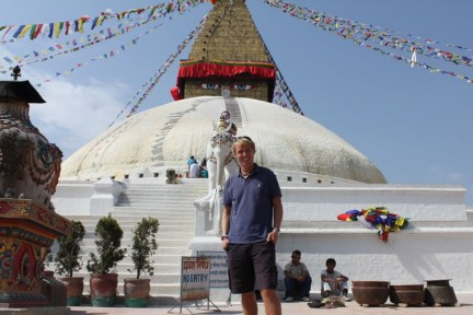 Me at Boudhanath temple