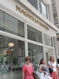 A quick stop at Magnolia Bakery...