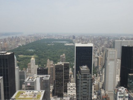 Looking out to Central Park from 'Top of the Rock'...