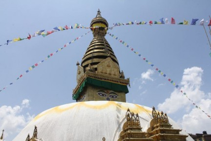 Swayambhunath Temple, is worth a visit...