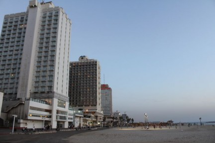 Tel Aviv beach from is very impressive and an enjoyable place to walk alone.