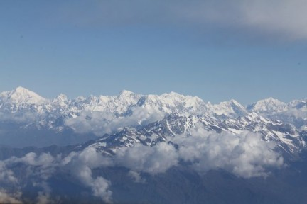 The Himalayan Mountains. Nepal has 12 of the 14 highest peaks in the world. The other two are in Pakistan and India.