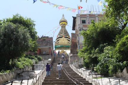 There's a few stairs you need to negotiate before reaching the temple.