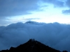 Pacaya Volcano in the clouds.