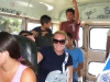 Lis on a crowded El Salvador bus