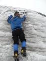 18. Dave comfortable on ice wall