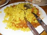 20. Some of Pete Vindaloo hidden in Liss rice