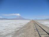 85. Train line and Volcano
